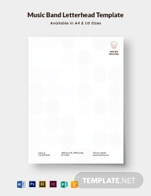 Music Band Letterhead Template