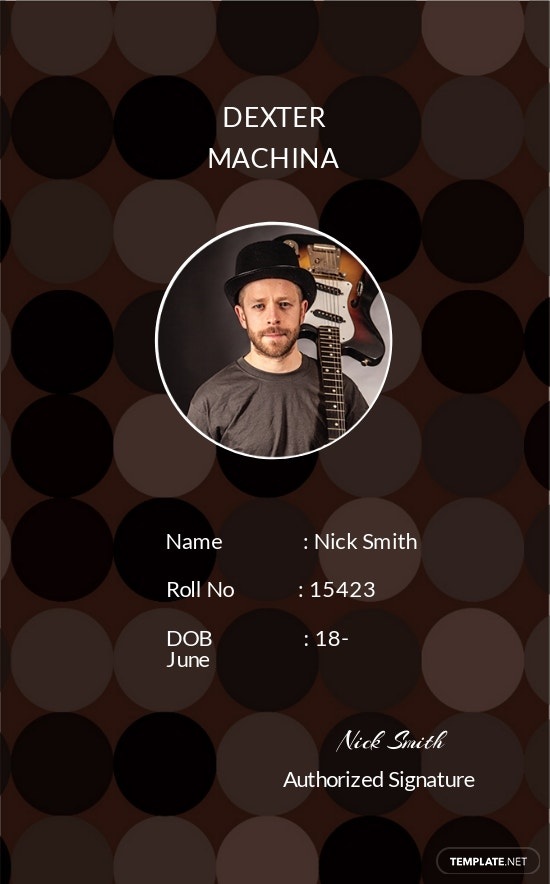 Music Band ID Card Template