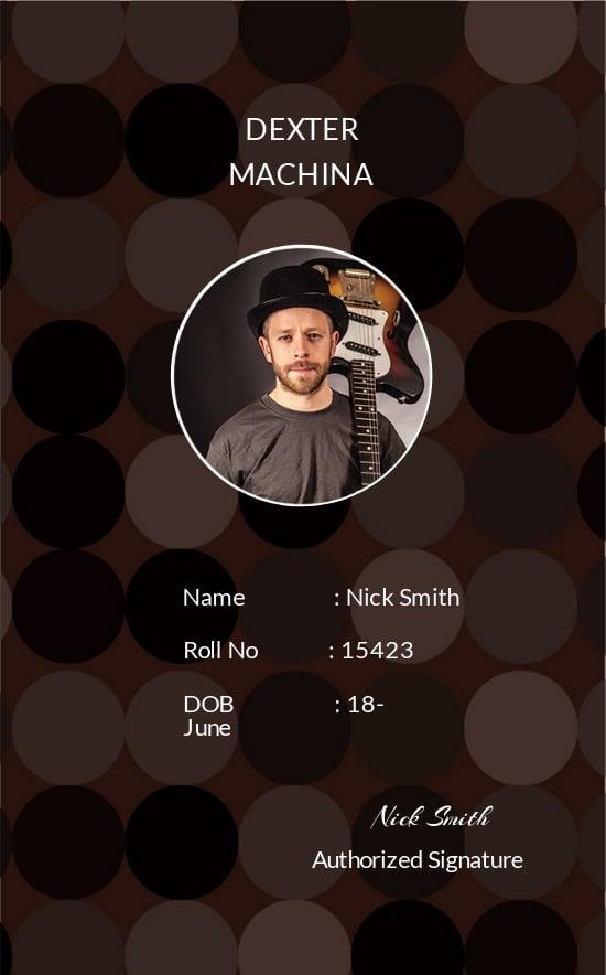 Music Band ID Card Template