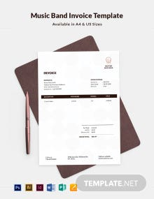 Music Band Invoice Template