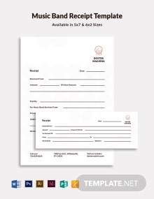 Music Band Receipt Template