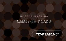 Music Band Membership Card Template