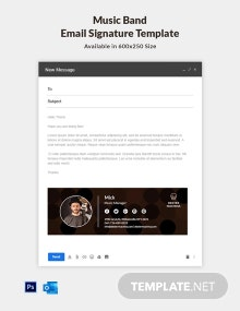 Music Band Email Signature Template