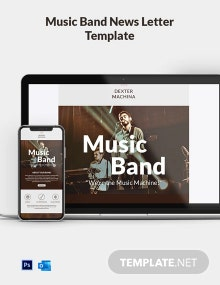 Music Band Email Newsletter Template