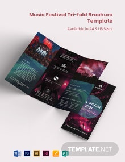 Music Festival Tri-Fold Brochure Template