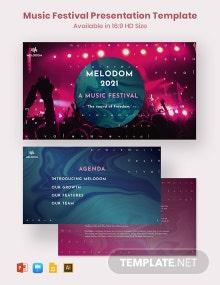 Music Festival Presentation Template