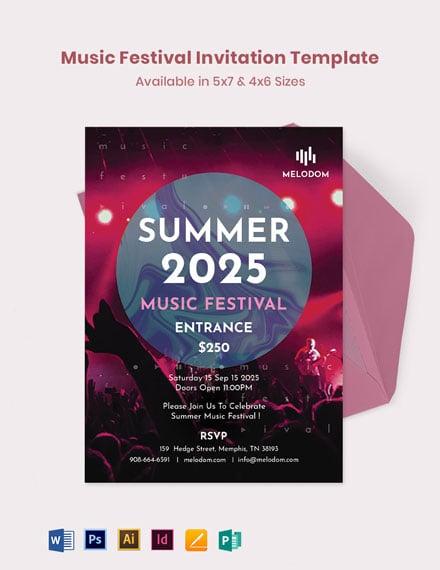 Music Festival Invitation Template