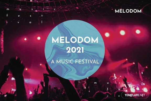Music Festival Postcard Template