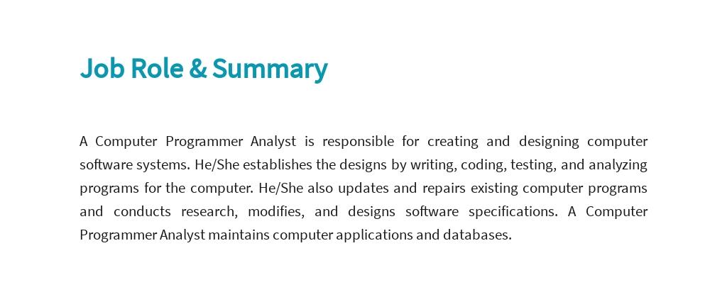 Free Computer Programmer Analyst Job Ad/Description Template 2.jpe