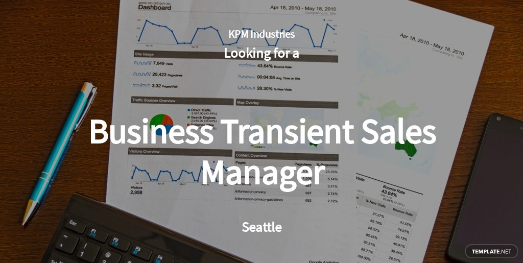 Business Transient Sales Manager Job Ad/Description Template