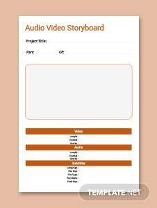 Audio video Storyboard Template