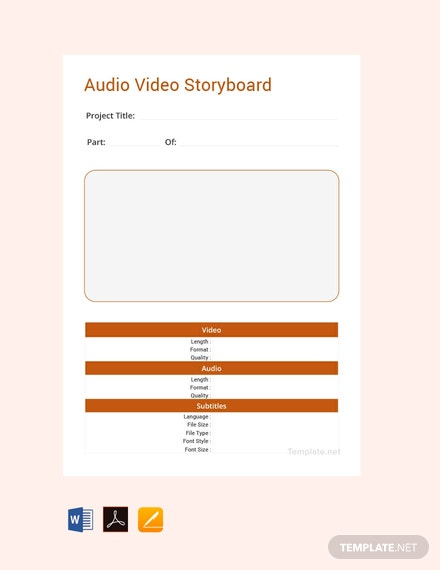 Free Audio video Storyboard Template