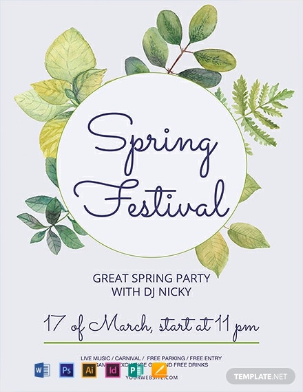 Free Spring Festival Flyer Template