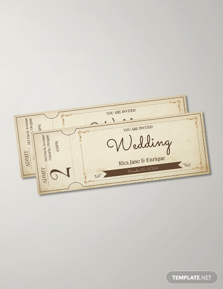 Free Vintage Ticket Template