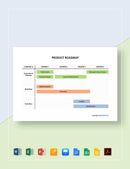 Free Editable Product Roadmap Template