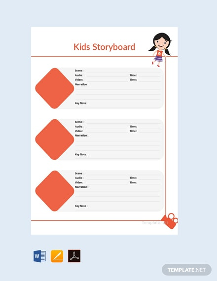 Free Kid's Storyboard Template