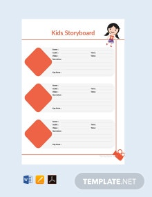 Kid's Storyboard Template