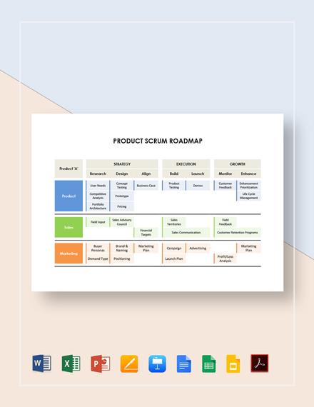 Product Scrum Roadmap Template