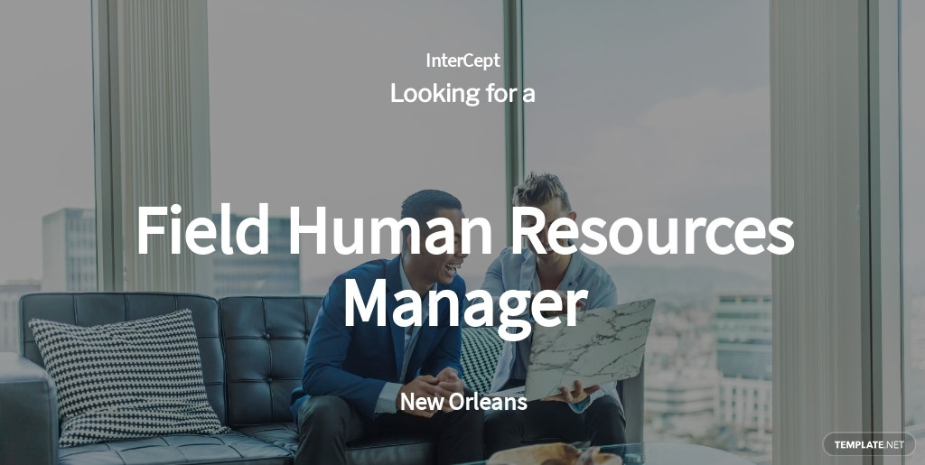 Field Human Resources Manager Job Ad/Description Template
