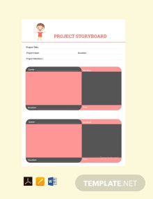 Free Project Storyboard Template