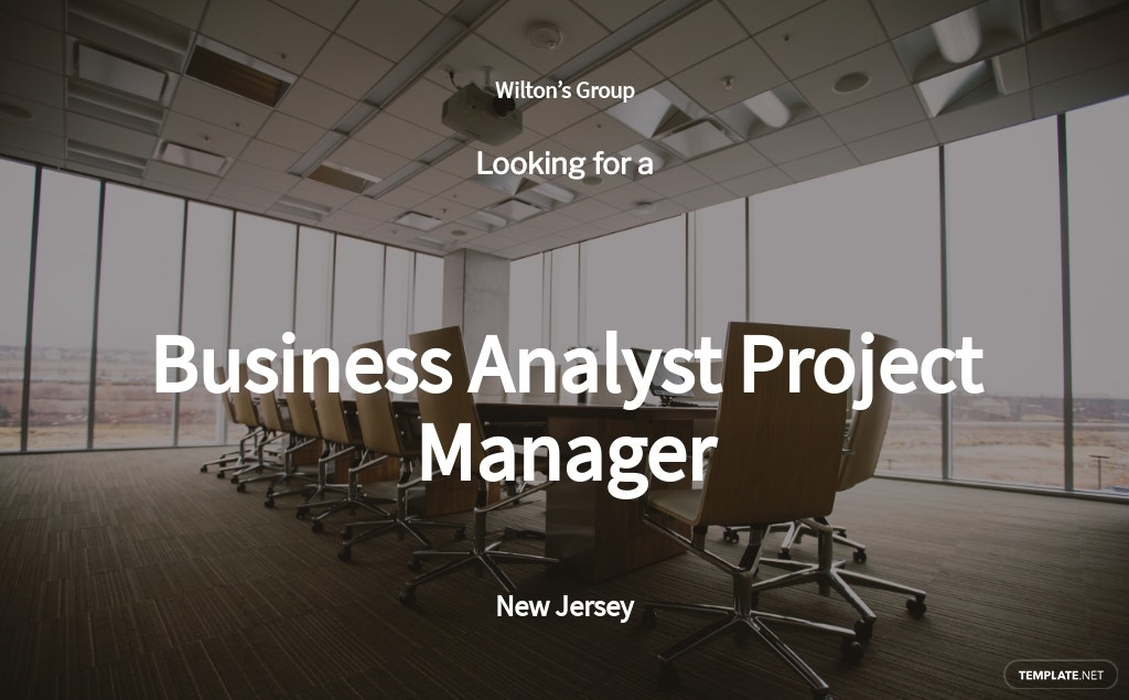 Free Business Analyst Project Manager Job Ad/Description Template.jpe