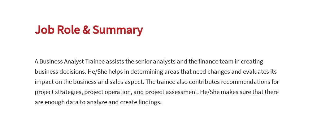 Free Business Analyst Trainee Job Ad/Description Template 2.jpe