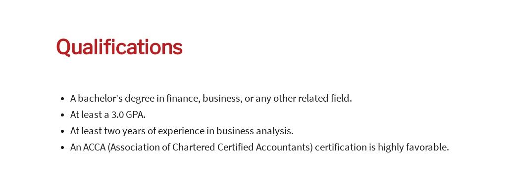Free Business Analyst Trainee Job Ad/Description Template 5.jpe
