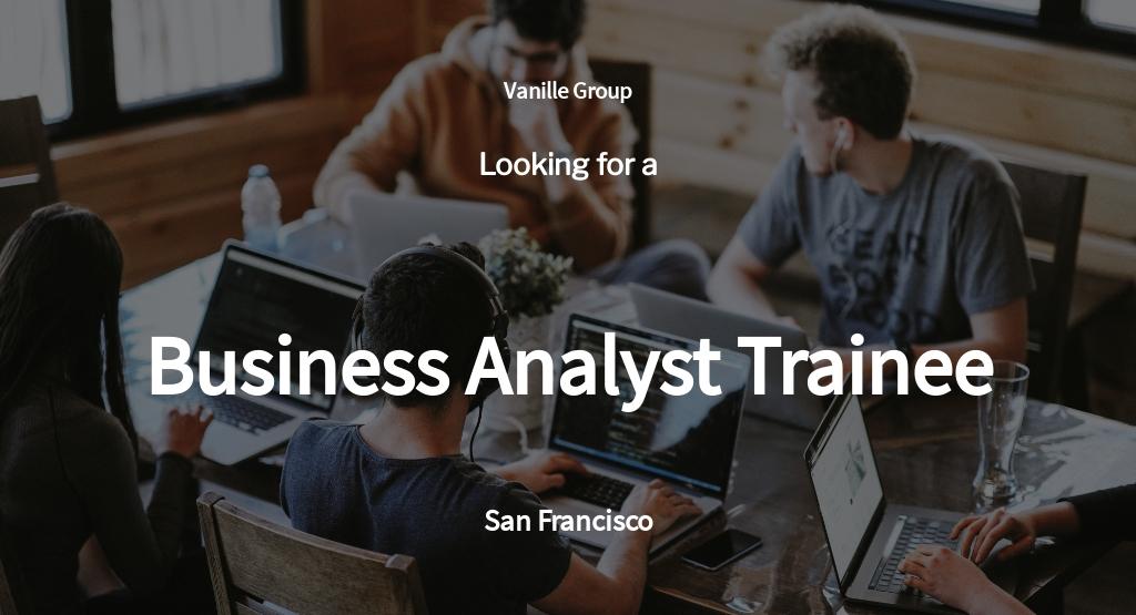 Free Business Analyst Trainee Job Ad/Description Template.jpe