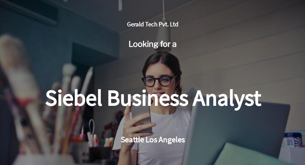 Free Siebel Business Analyst Job Ad/Description Template.jpe