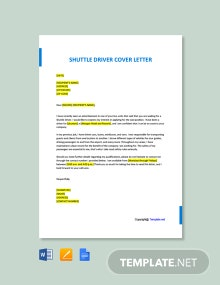Free Shuttle Driver Cover Letter Template