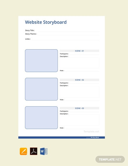 Free Website Storyboard Template