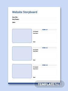 Website Storyboard Template