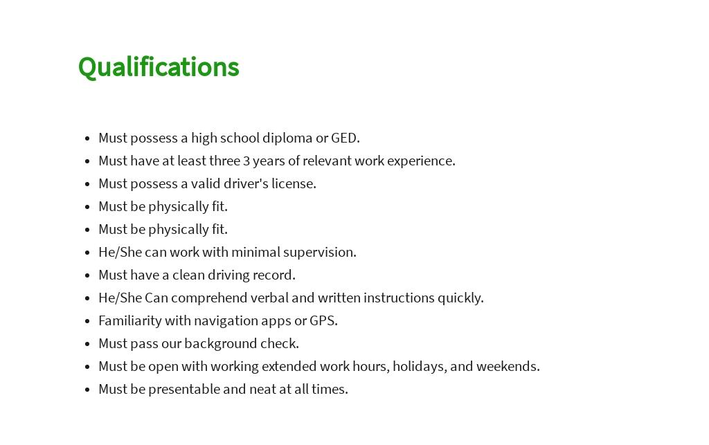 Free Professional Driver Job Description Template 5.jpe