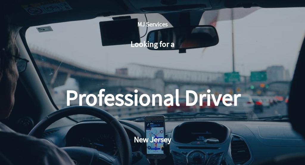 Free Professional Driver Job Description Template.jpe