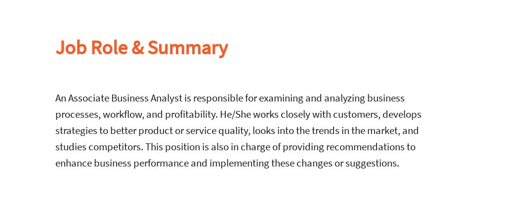 Free Associate Business Analyst Job Description Template 2.jpe
