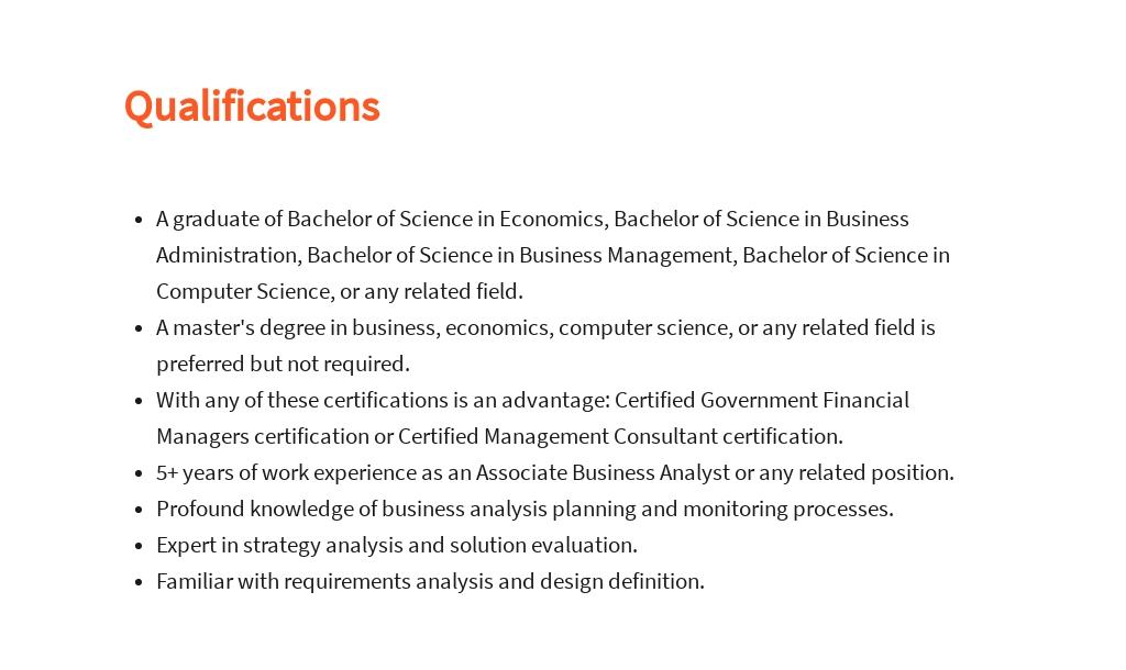Free Associate Business Analyst Job Description Template 5.jpe