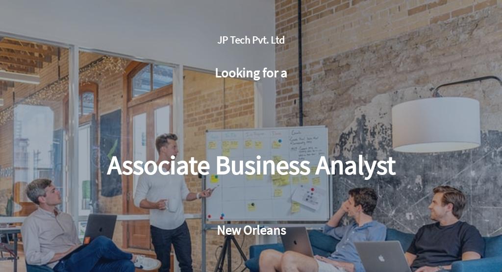 Free Associate Business Analyst Job Description Template.jpe