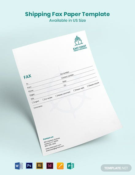 Shipping Fax Paper Template