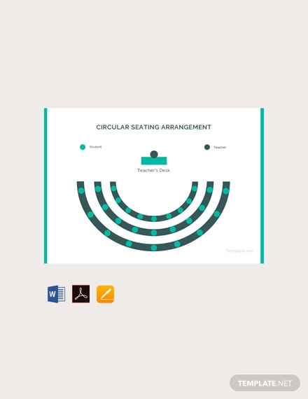 Free Circular Seating Arrangement Classroom Template