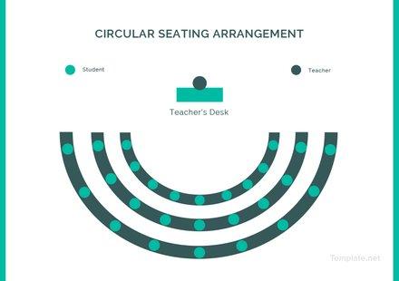 Circular Seating Arrangement Classroom Template