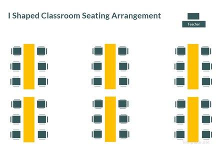 l Shaped Classroom Seating Arrangement Template