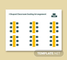 l Shaped Classroom Seating Arrangement Template
