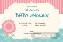 Free Baby Shower Party Invitation Template