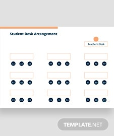 Student Desk Arrangement Template