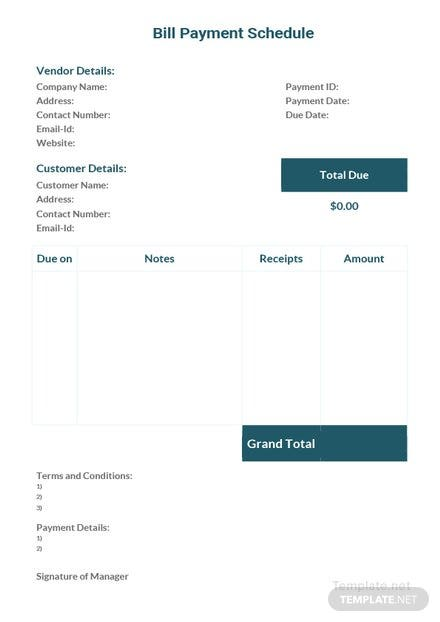 monthly payment schedule template in microsoft word  excel