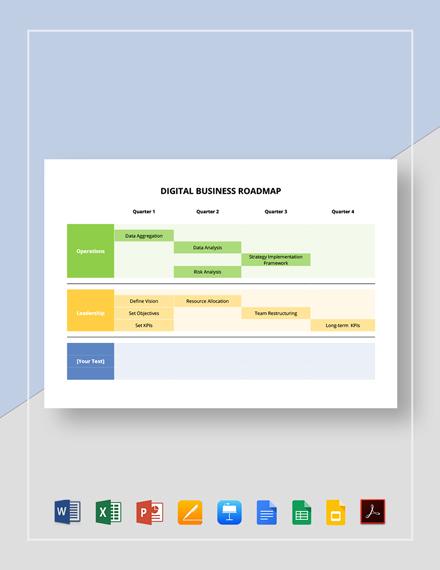 Digital Business Roadmap Template