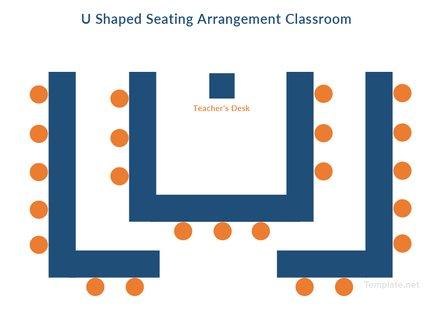 U Shaped Seating Arrangement Classroom Template