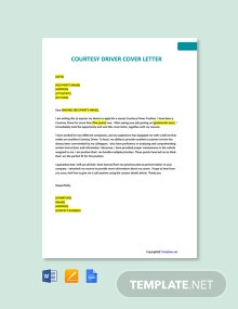 Free Courtesy Driver Cover Letter Template