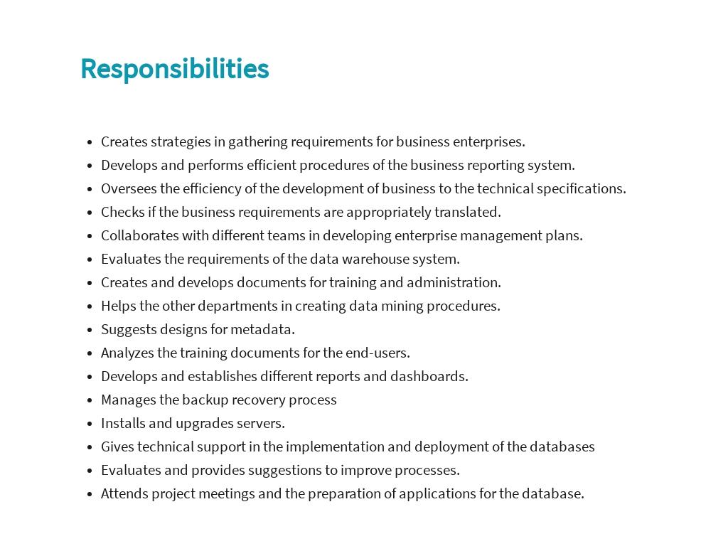 Free Data Warehousing Business Analyst Job Ad/Description Template 3.jpe