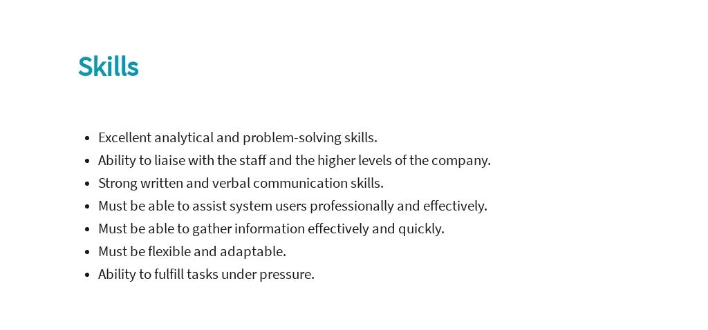 Free Data Warehousing Business Analyst Job Ad/Description Template 4.jpe